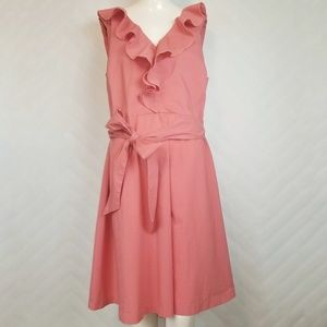 Eloquii The Limited Salmon Pink Ruffle Dress 16W